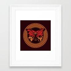 Puppet Butterfly Framed Art Print