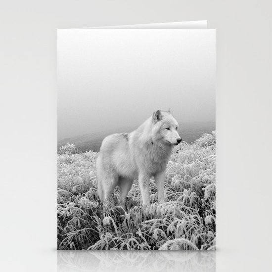 Winter Wolf Stationery Card