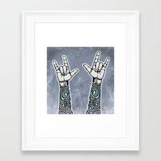 Double Rock Sleeve Framed Art Print
