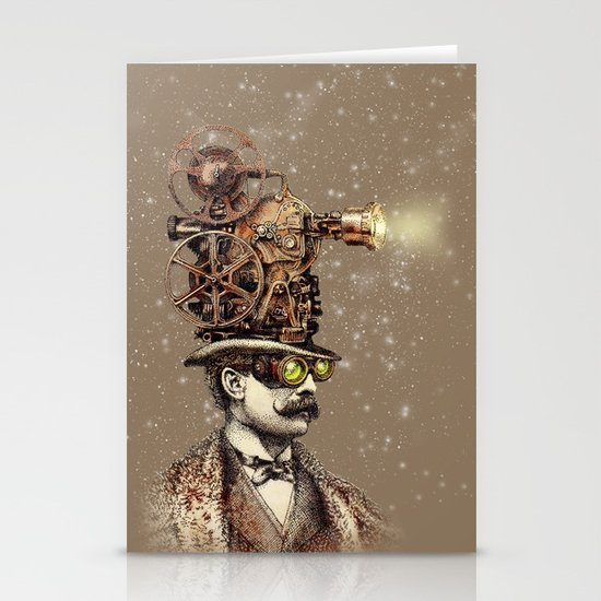 The Projectionist (sepia option) Stationery Card