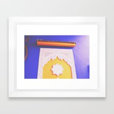 majorelle blue Framed Art Print
