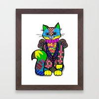 cheshire cat Framed Art Print