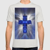 Cross Mens Fitted Tee Silver SMALL
