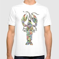 Lobster Mens Fitted Tee White SMALL