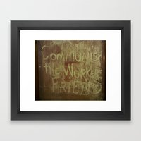 The Worker's Friend Framed Art Print