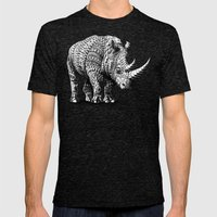 Rhinoceros Mens Fitted Tee Tri-Black SMALL