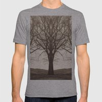 The Mirrored Trees Mens Fitted Tee Athletic Grey SMALL
