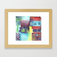 The Fruit and Veg Shop Framed Art Print
