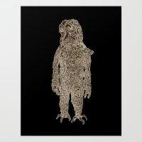 Slow Man Art Print