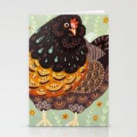 Golden Chicken Stationery Cards