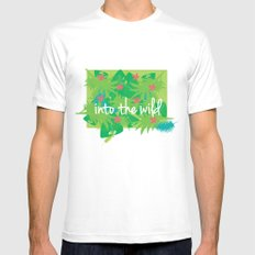 Jungle SMALL Mens Fitted Tee White