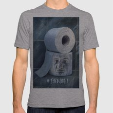 Oh No....  Mens Fitted Tee Athletic Grey SMALL