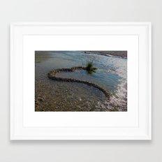 the heart of river stones Framed Art Print
