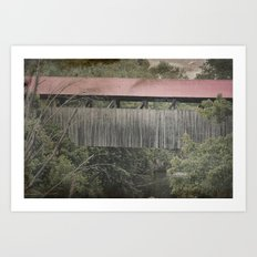 Covered Bridge, 1880 Art Print