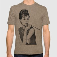 Audrey Mens Fitted Tee Tri-Coffee SMALL