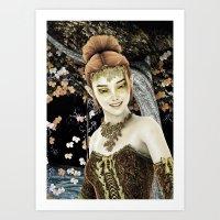 Princess Of Autumn Art Print