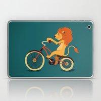 Lion on the bike Laptop & iPad Skin