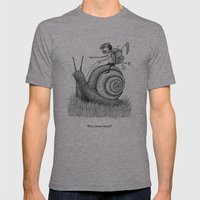 'Full Speed Ahead!' Mens Fitted Tee Athletic Grey SMALL