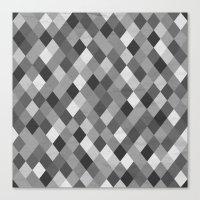 Black And White Harlequi… Canvas Print