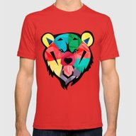 Bear  Mens Fitted Tee Red SMALL