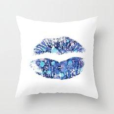 lip number 4 Throw Pillow