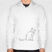 Cat illustration Hoody