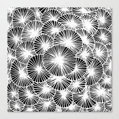 White Pinwheels Canvas Print