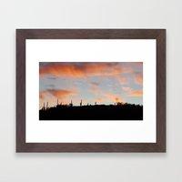 Pink Sunset Framed Art Print