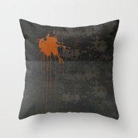 Spot Orange Throw Pillow