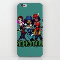 RonkyTonk Halloween Roller Derby Shirt iPhone & iPod Skin
