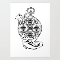 Frog Watch Art Print