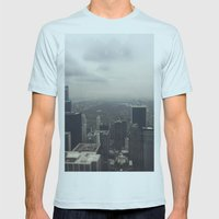 Central Park In The Fog Mens Fitted Tee Light Blue SMALL