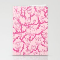Pink Thorn Stationery Cards