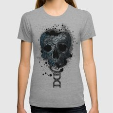 Skull Womens Fitted Tee Athletic Grey SMALL