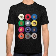 Icon Set Minimalist Post… Mens Fitted Tee Tri-Black SMALL