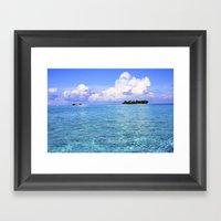 Paradise Island Framed Art Print