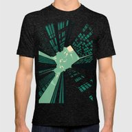 Solitary Dream Mens Fitted Tee Tri-Black SMALL