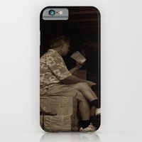 Man eating inside the van. Chinatown, New York City iPhone 6 Slim Case