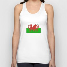wales country flag united kingdom  Unisex Tank Top
