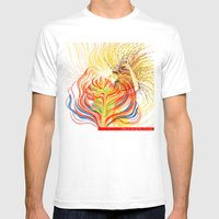 Bloom In LOVE Mens Fitted Tee White SMALL