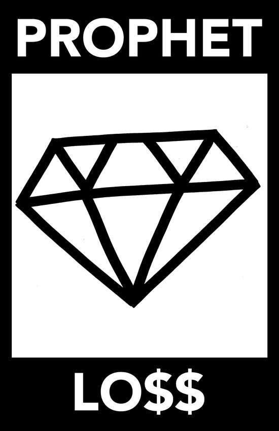 P&Ls: Diamond Black Art Print