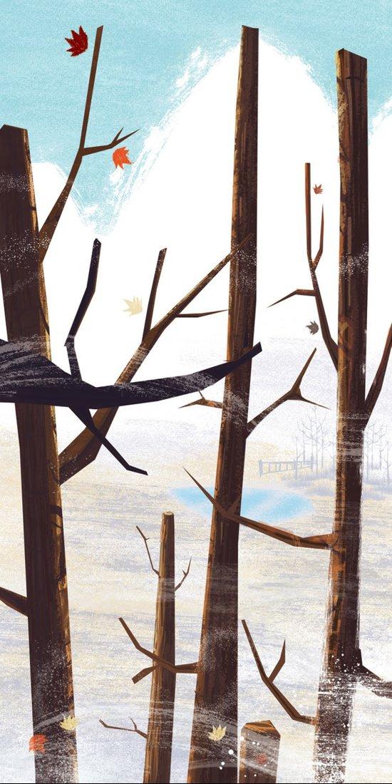 trees tops Art Print