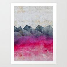 Pink Concrete Art Print