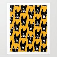 Boston Terriers Art Print
