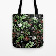 Tote Bag featuring Mid Winter Berries by Ariadne
