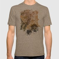 Golden Sky Mens Fitted Tee Tri-Coffee SMALL