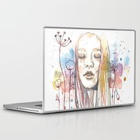 Laptop & iPad Skin featuring Meditation, watercolor  by Jane-Beata