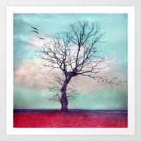 ATMOSPHERIC TREE | Longi… Art Print