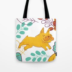 Happy Fall, Dogs! (Frenchie) Tote Bag