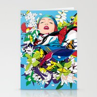 Blossom woman Stationery Cards